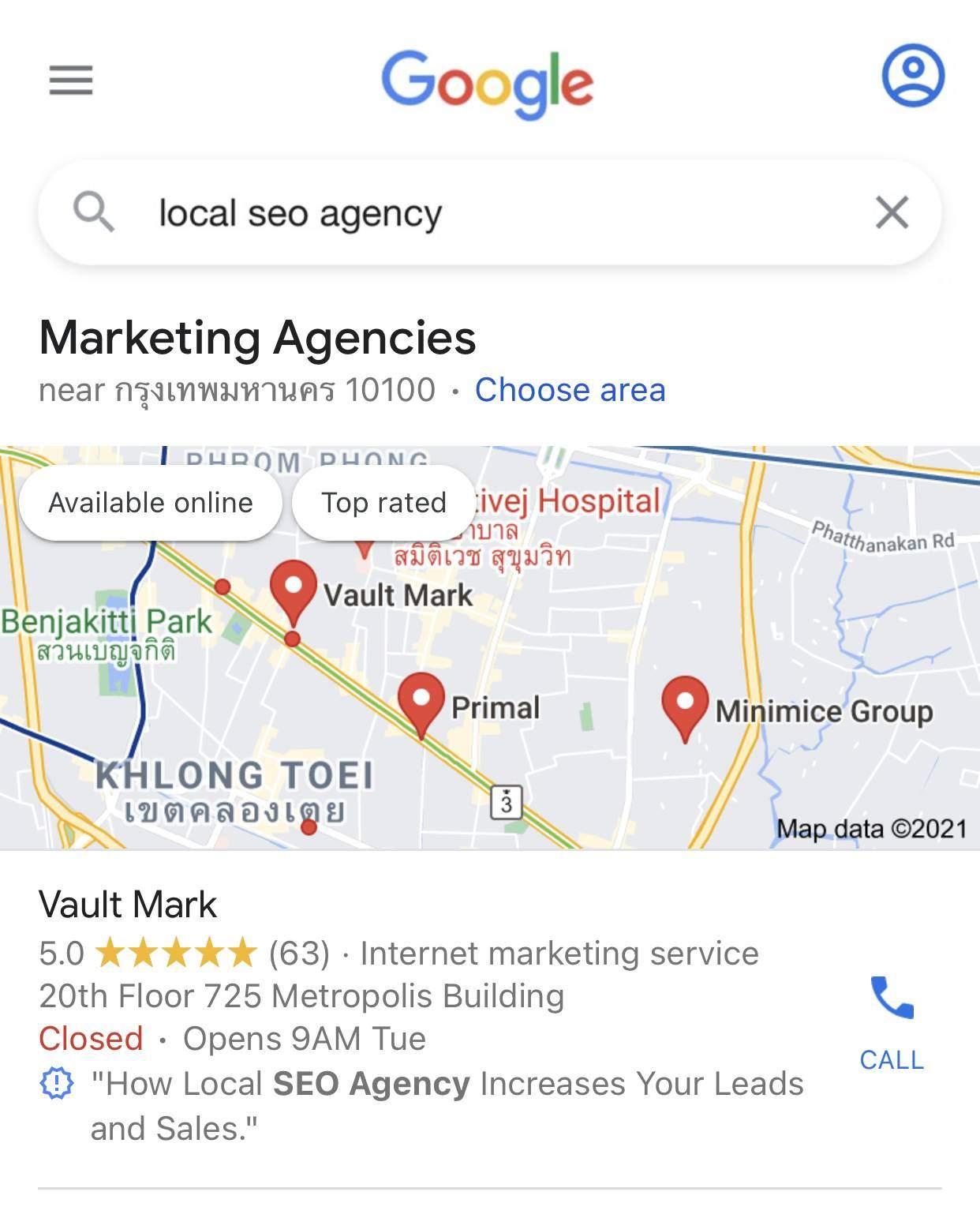 local seo services company agency